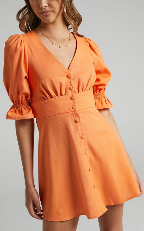 Tayla Dress in Tangerine