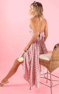 Go For It Dress In Pink Floral