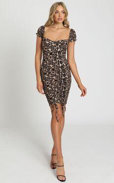 Just Fantasy Dress in Leopard Print