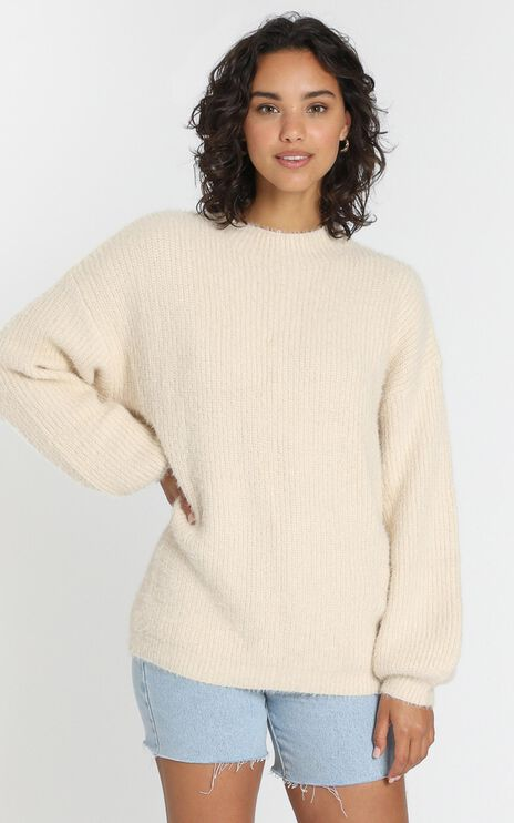 Elle Woods Knit Jumper in Almond