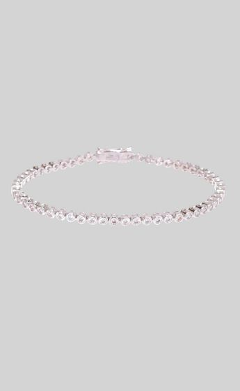 Luv AJ - Ballier Bezel Tennis Bracelet in Silver