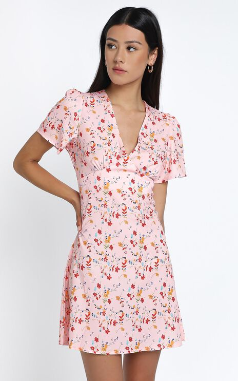 Darla Dress in Pink Floral