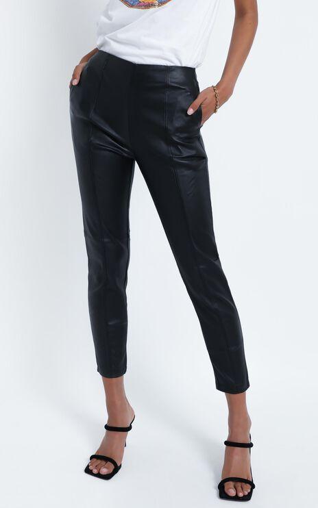 Flynn Pants in Black Leatherette
