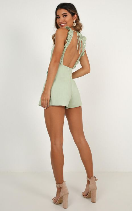 Be So Right Playsuit In Sage