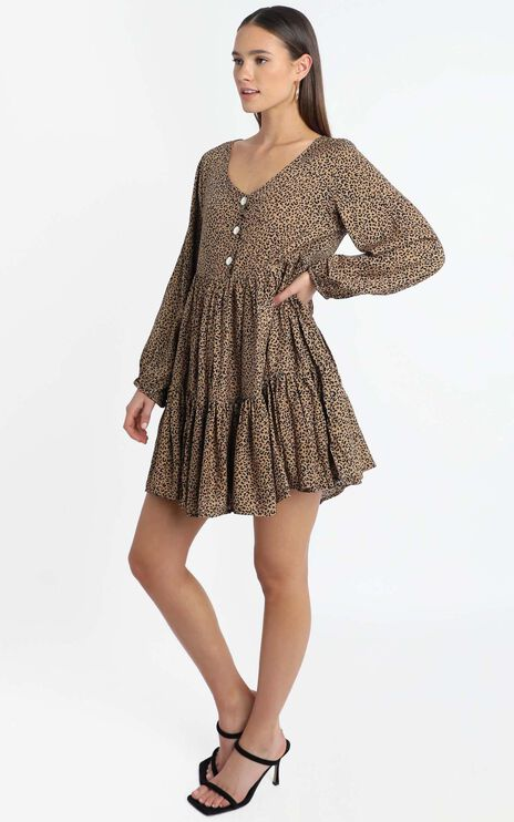 Chester Dress in Leopard Print