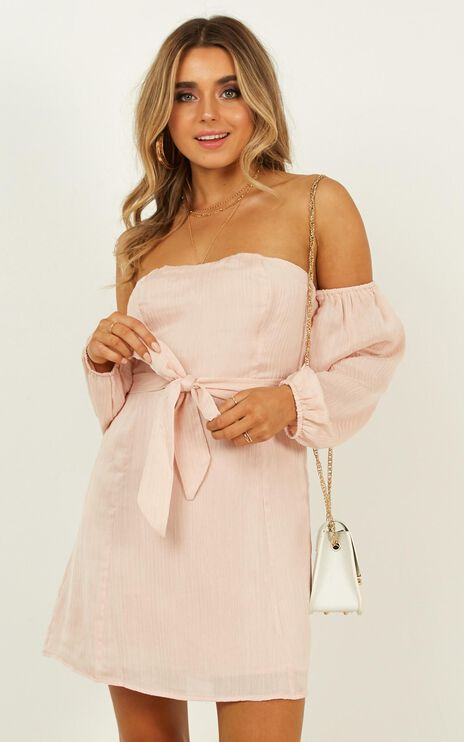 Steaming Ahead Dress In Blush