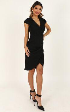 Quick Decider Dress In Black