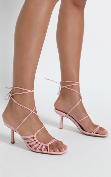 Alias Mae - Lisa Heel in Pink Kid Leather