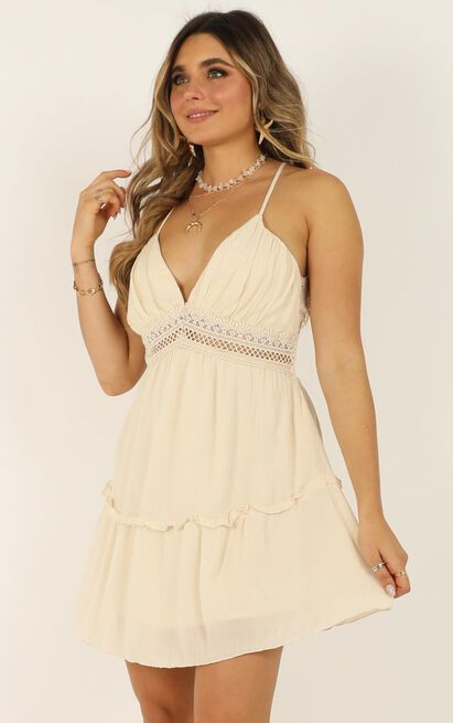 Eyes Like Water Dress in cream - 14 (XL), Cream, hi-res image number null