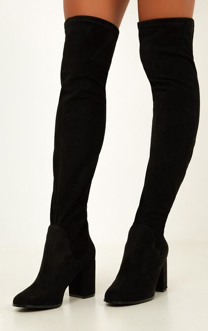 Therapy Shoes - Hanover Boots in black micro, Black, hi-res image number null