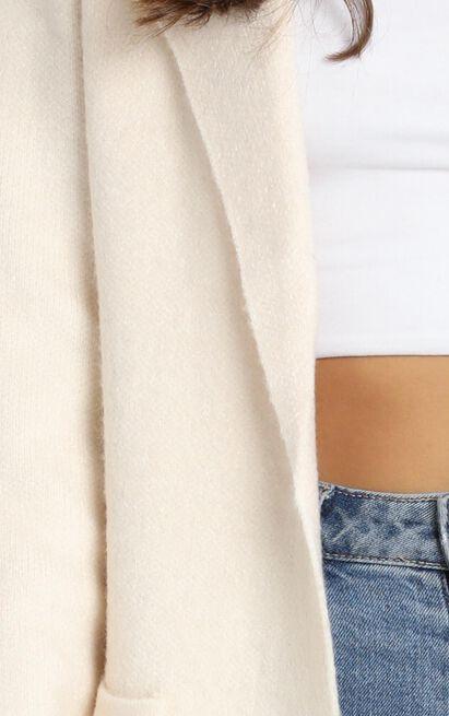 True Meanings cardigan in cream - 20 (XXXXL), Cream, hi-res image number null
