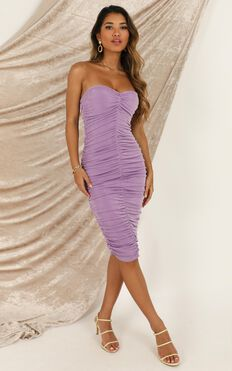 Stay in Touch Dress In Lilac