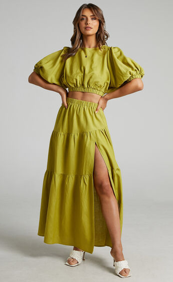 Astrid Two Piece Set in Green