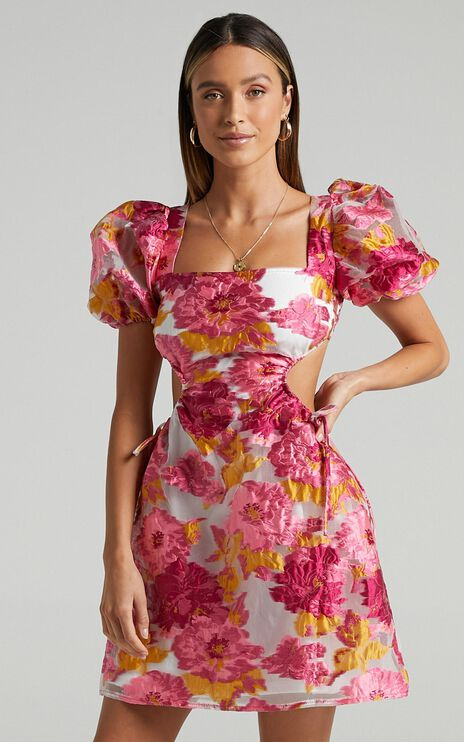 Westley Dress in Pink Floral