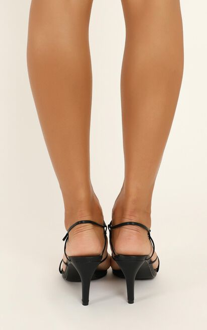 Therapy - Flossy heels in black - 10, Black, hi-res image number null