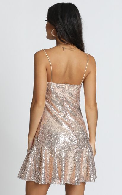See The Way Slip Dress in gold sequin - 20 (XXXXL), Gold, hi-res image number null