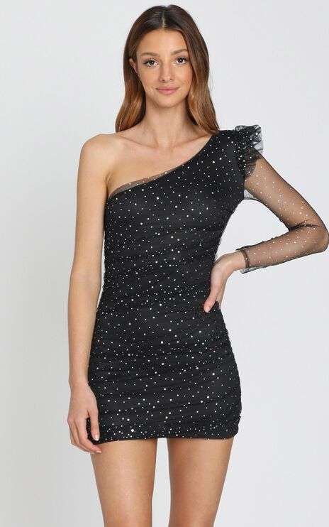Nothing To Hide Dress in Black Spot