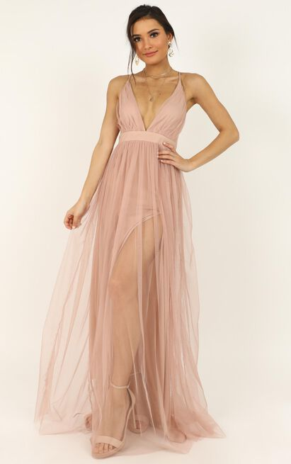 Like A Vision Dress in blush mesh - 18 (XXXL), Blush, hi-res image number null