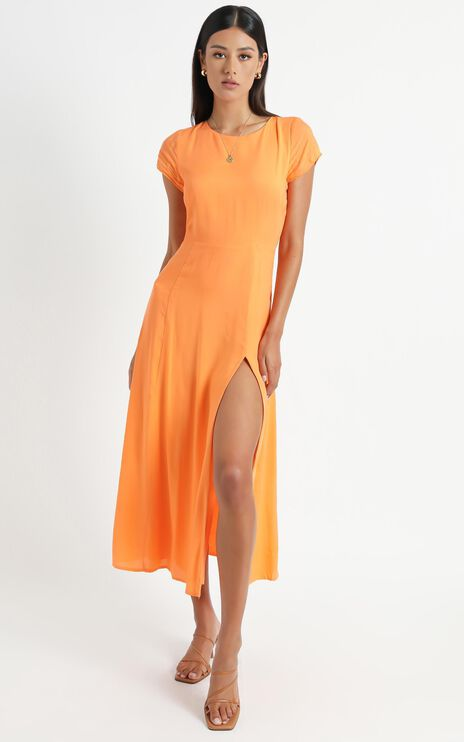 Clarice Dress in Orange