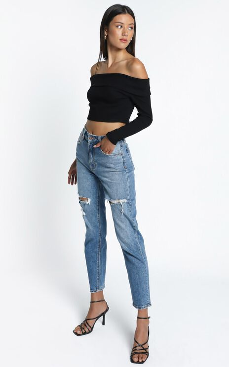 Cecilia Off shoulder Top in Black