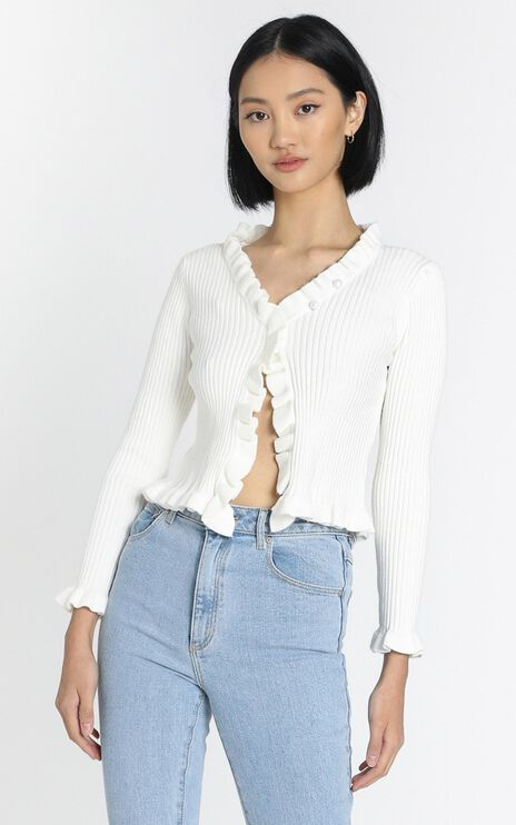 Broden Knit Top in White