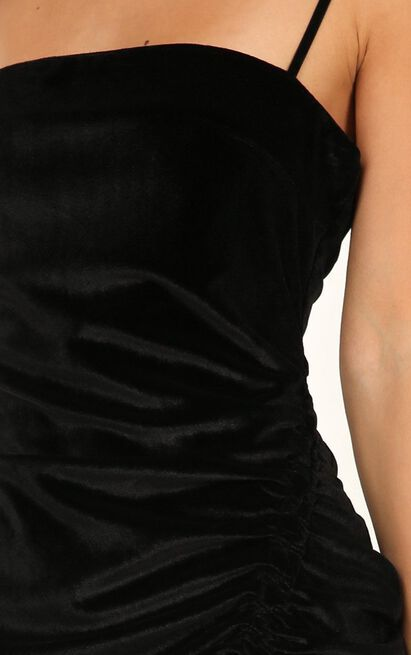 Beyond it dress in black velvet - 10 (M), Black, hi-res image number null
