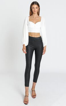 Keegan Pants in Black Leatherette