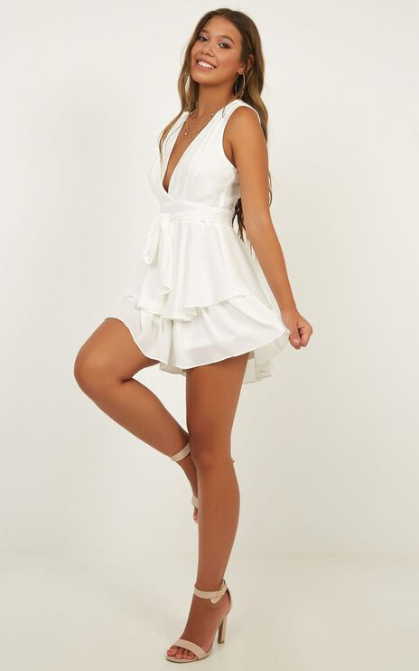Brave Heart Playsuit In White