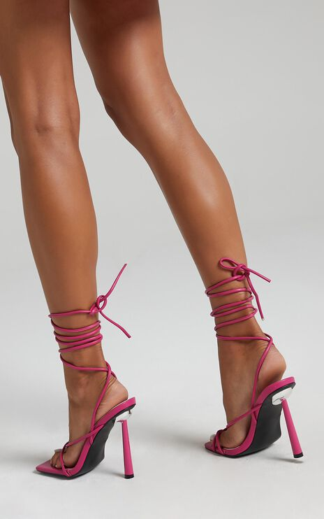 Public Desire - Lacey Heels in Pink PU
