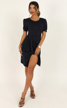 Free Thinkers Dress In Navy