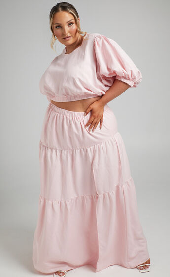 Astrid Two Piece Set in Pale Pink