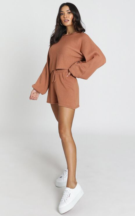 Hartley Knitted Jumper in Tan