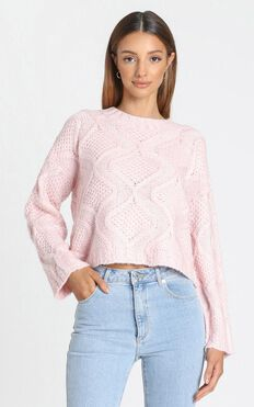 Vancouver Knit Jumper in Pink