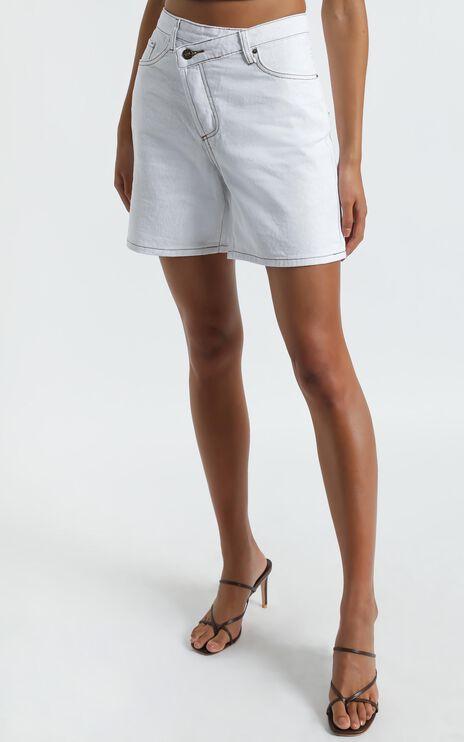 Lioness - Lowrider Denim Short in White Denim