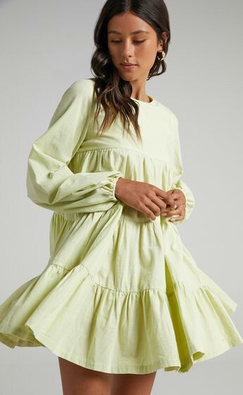 Toulouse Dress in Citrus Green