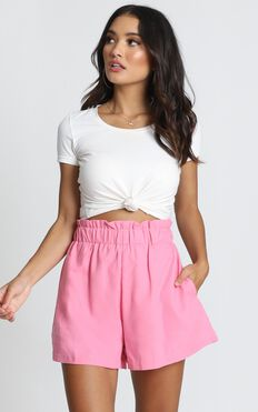 Sugar And Salt Shorts In Hot Pink