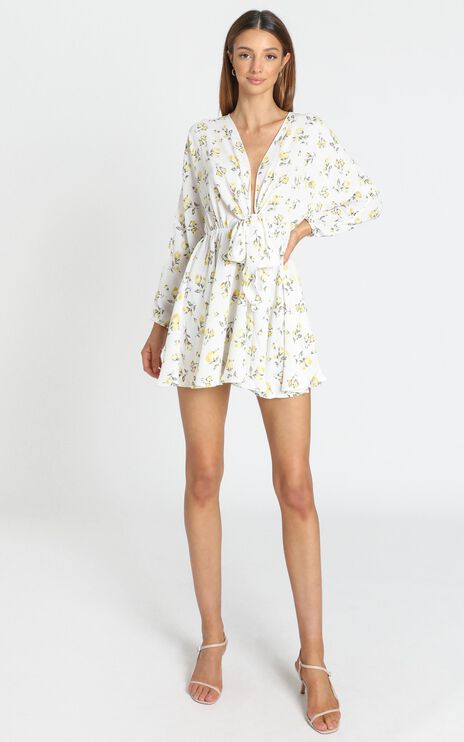 Lone Star Dress in White Floral
