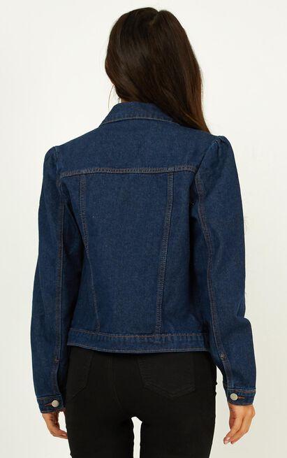 Ava Denim Jacket  In dark blue wash - 12 (L), Blue, hi-res image number null
