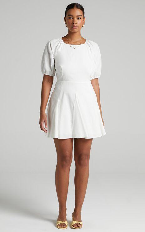 Riku Dress in White