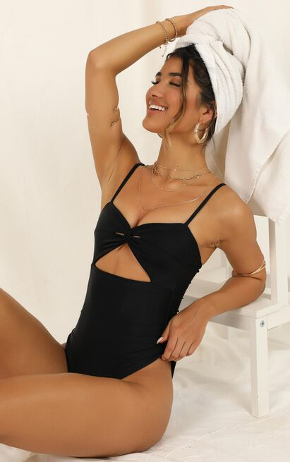 Tamika one piece in black - 20 (XXXXL), Black, hi-res image number null