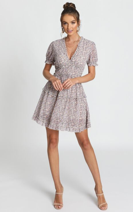 Losing My Marbles Dress In Lilac Floral