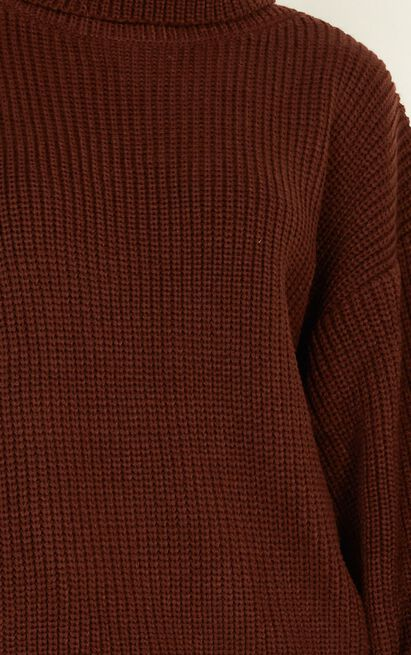 Steam Ahead Knit Jumper in chocolate - 20 (XXXXL), Brown, hi-res image number null