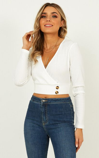 Smile On The Dial top in  white - 20 (XXXXL), White, hi-res image number null
