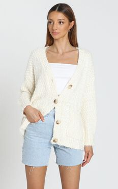 Kacey Super Soft Cardigan in Ivory