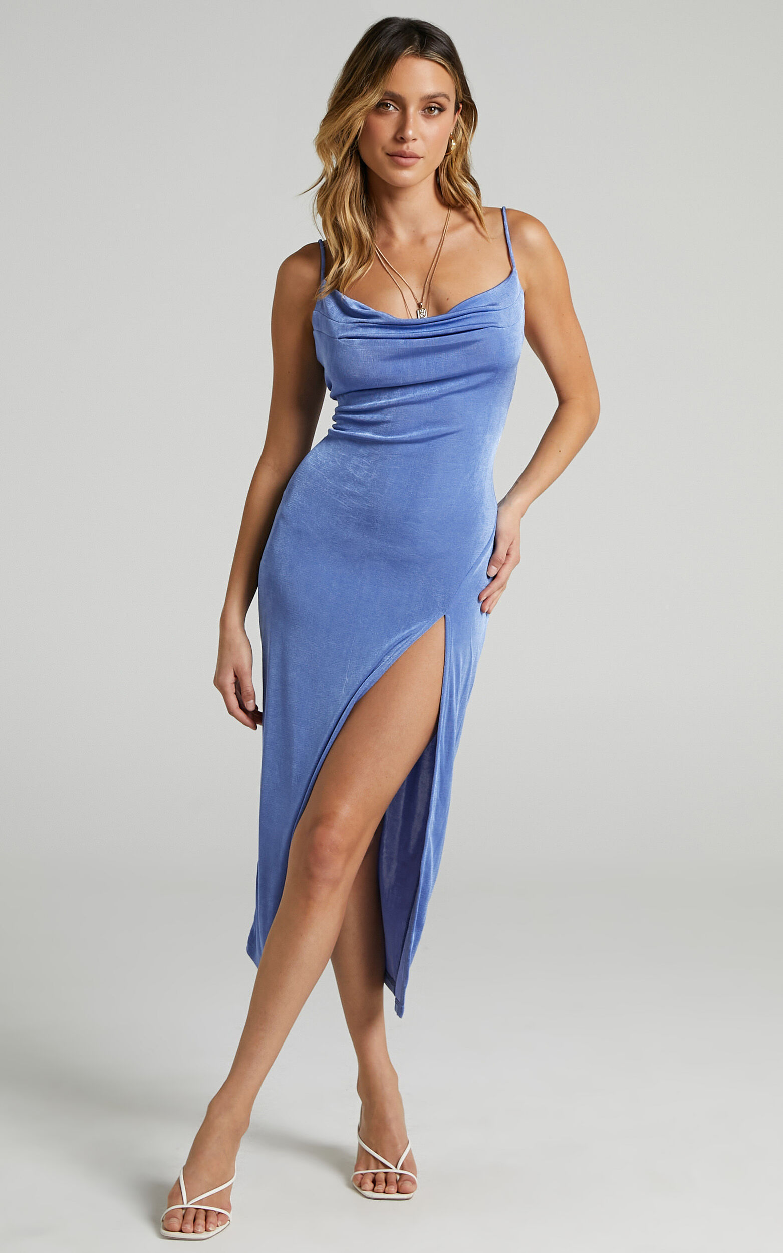 She.Is.Us - Slinky Slip Dress in Periwinkle - L, BLU1, super-hi-res image number null