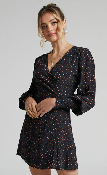 Charlie Holiday - Franco Wrap Dress in Spot