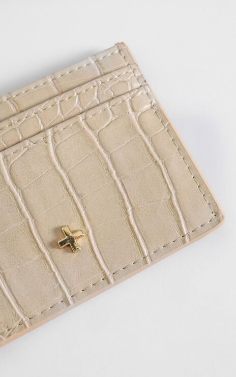 Peta and Jain - Izzy Card Holder in Nude Croc