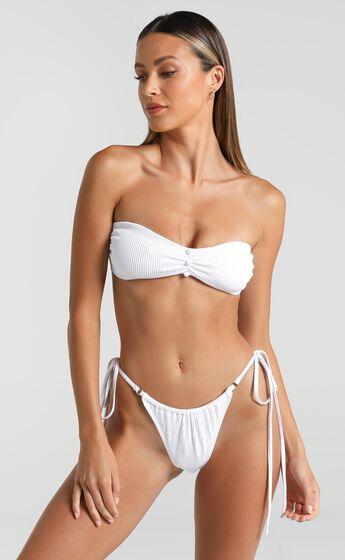 Twiin Swim - Celine Ruched Bandeau in White