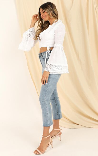 Only Thing Between Us top in cream - 12 (L), Cream, hi-res image number null