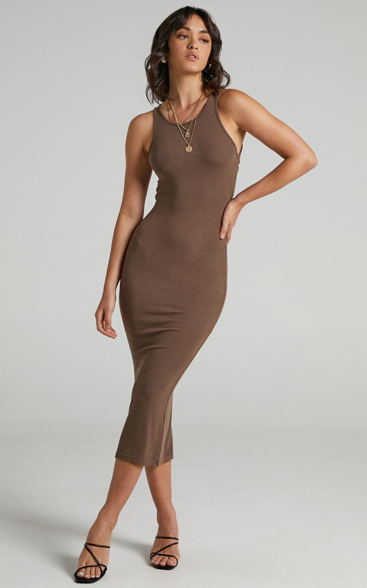 Laya Dress in Chocolate - 08, BRN1, super-hi-res image number null
